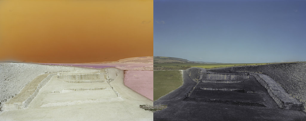 Field of Vision II - Tarring Neville Chalk Quarry, Sussex, C-Type Digital Print - Dyptich 80 x 31in / 202 x 79 cm (Edition of 20) £700.000 Print Only