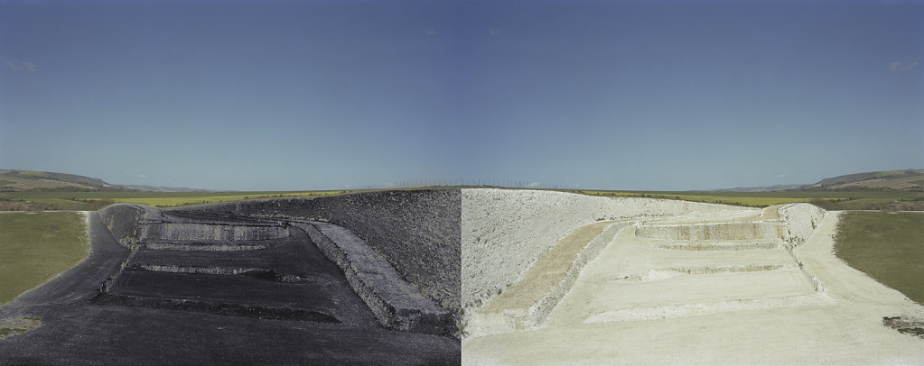 Field of Vision III - Tarring Neville Chalk Quarry, Sussex, C-Type Digital Print - Dyptich 80 x 31in / 202 x 79 cm (Edition of 20) £700.000 Print Only